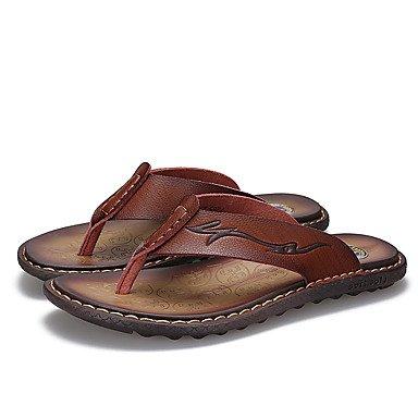 Slippers & amp da uomo;Luce Estate Suole PU Casual Sandali Marrone terra gialla sandali US10 / EU43 / UK9 / CN44