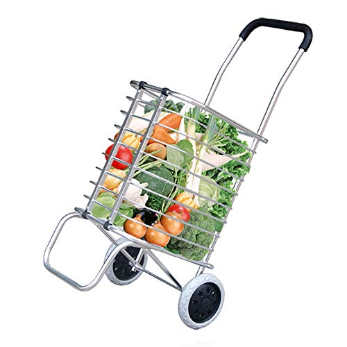 b7e6ee9bb317 ZSLLO 2 Round Shopping Cart Trolley Shopping Cart Trolley Bag Foldable  Reusable Grocery Shopping Bag Eco Supermarket Bag Easy To Use