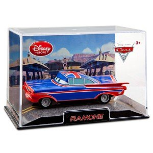 Ramone Cars 2 Die Cast Car printed Union Jack on his roof