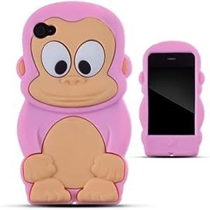 Zooky® Rose singe Silicone Coque / Étui / Cover pour Apple Iphone 4/4s