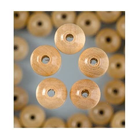 bastelkoerble® Holzperlen , Natur , 6mm - 110 Stück , Speichelfest , Holzperlen zum fädeln