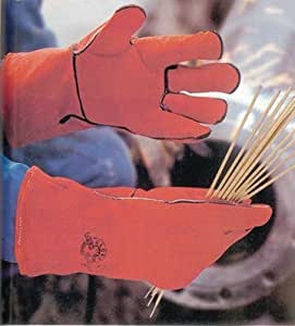 Générique - Paire de gants de protection soudeur anti-chaleur-cuir croute de bovin - Taille.10 -