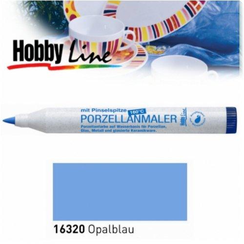HOBBY LINE Porzellanmaler 160 °C mit Pinselspitze Opalblau-HobbyLine