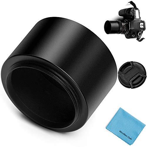 Fotover 40.5mm Schraube Berg Metall Tele Gegenlichtblende Sonnenblende Streulichtblende mit Center Pinch Objektivdeckel für Canon Nikon Sony Pentax Olympus Fuji Sumsung Leica Kamera -