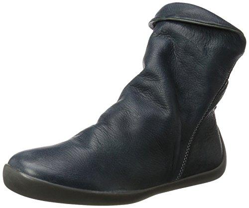 Softinos Damen Nat332sof Washed Stiefel Blau (Petrol)