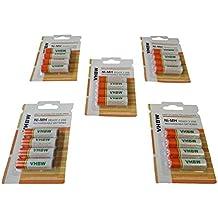 Pilas baterías recargables vhbw 20 x AA, Mignon, HR6, LR6 para Logitech All-In-One Wireless Keyboard TK820, K400, K360, MK710, Bluetooth Mouse M557
