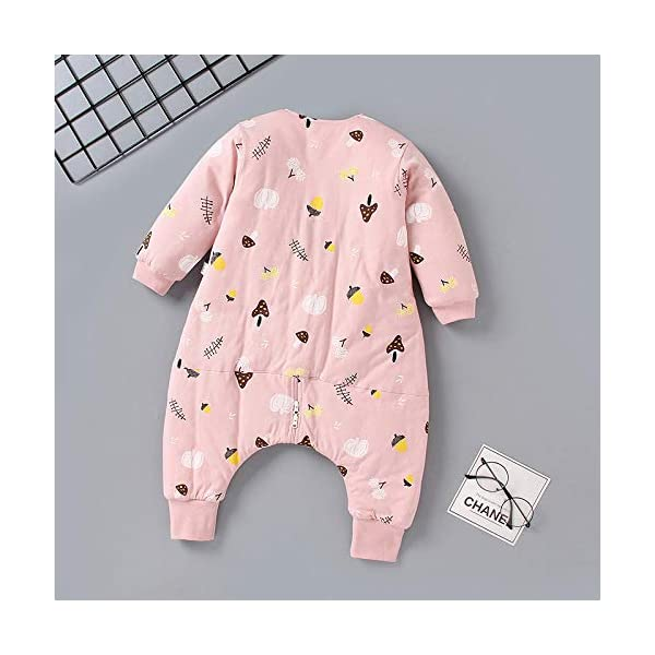 QFYD FDEYL Saco de Dormir para niños,Ropa de algodón Fino para bebés, Saco de Dormir de piernas de bebé de Invierno-Polvo_80 Yardas,Invierno Sacos de Dormir para Bebé Niños Niñas