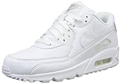 Nike. Men. . Air Max 90 Leather. Off-white (Whitewhite). 8.5