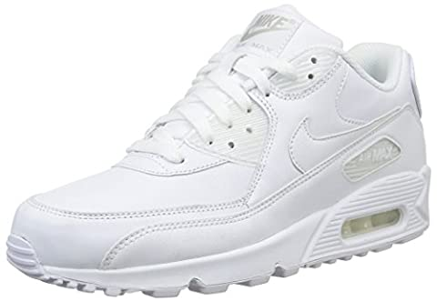 Nike Air Max 90, Sneakers Basses homme, Blanc Cassé (True White/True White), 44