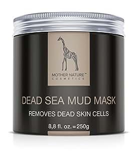 Totes Meer Schlamm Gesichtsmaske - Mother Nature® || Pflege für trockene und unreine Haut || Reinigung bei Pickel – Mitesser – Akne || Anti-Aging Maske || 250 g
