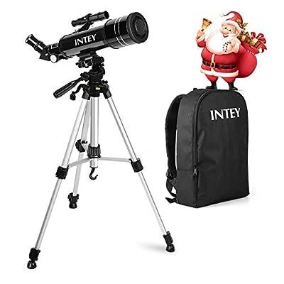 INTEY Télescope Astronomique, Télescope Enfants, Lentille Haute Définition, Portable Télescope avec Trépied (k6 mm, k25 mm) - Cadeau de Noel