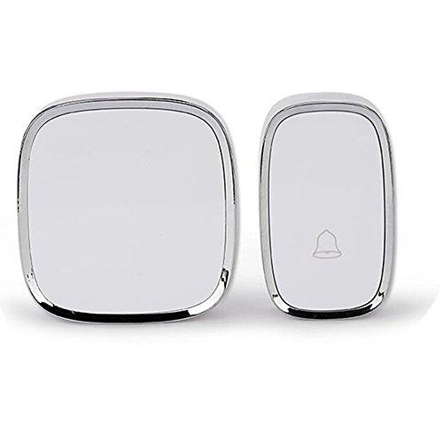 Campanello senza fili impermeabile wireless doorbell con raggio d'azione 300m, indicatore led, 1 trasmettitore pulsante e 1 ricevitore con spina incorporata senza batteria, 36 suonerie, 4 volume regolabile (bianco)