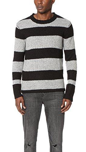 Cheap Monday Men's Caught Knit Wide Stripe Men's Pullover In Size L Striped