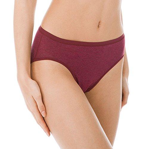 Calida Damen Rio Slip Comfort, Rot (Burgundy Melé 217), 42 (Herstellergröße: S) (Unterwäsche Slip Calida)