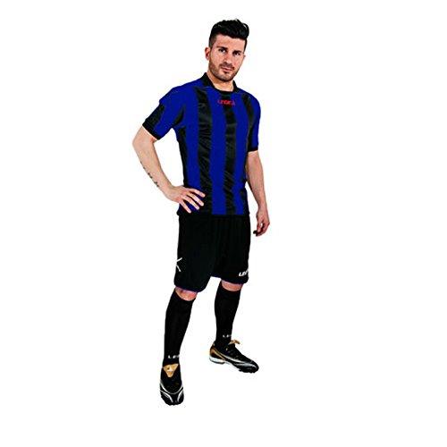 Legea kit Belgrado Herren Jungen Fußball Trikot Shirt Short Hosen Klein Armel Hallenfußball Blu/grenade blau/schwarz