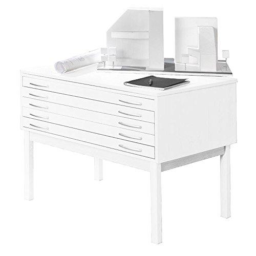AJ Produkter AB 105373 Planschrank DIN A1 mit 5 Laden, Laminat, Weiß