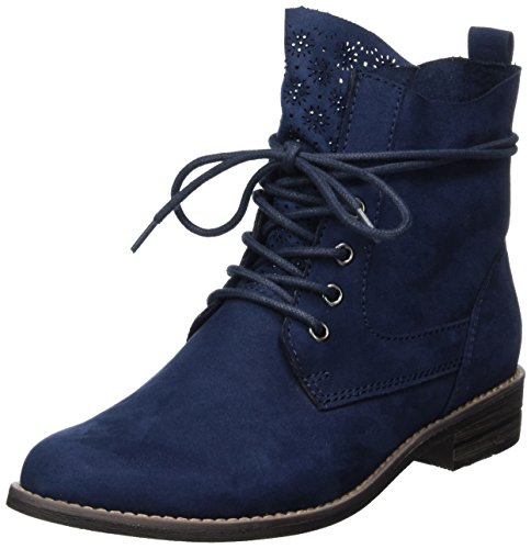 Marco Tozzi Damen 25105 combat Boots, blau (navy), 40 EU