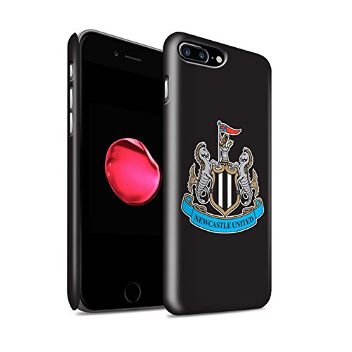 Offiziell Newcastle United FC Hülle / Matte Snap-On Case für Apple iPhone 7 Plus / Farbe/Gold Muster / NUFC Fußball Crest Kollektion Farbe/Schwarz