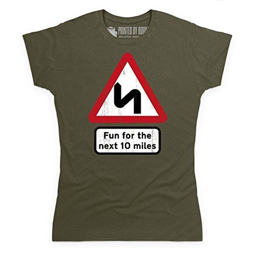 Fun For Ten Miles T-Shirt, Damen Olivgrn