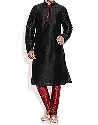 Royal Men's Silk Blend Kurta Pyjama Set
