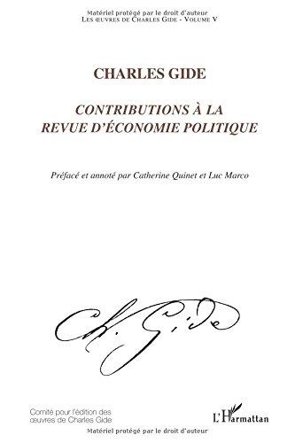 Contributions à la Revue d'économie politique