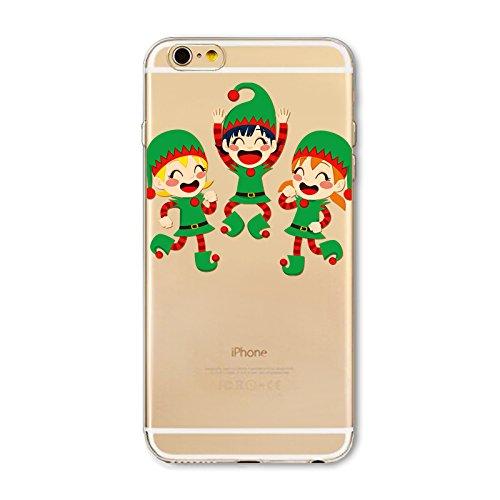 Weihnachten Hülle für iPhone 6 Plus / iPhone 6s Plus MOONMINI Ultra Dünn Weihnachten Dekoration Weiche TPU Silikon Full Body Schutz Rückseite Transparent Schutzhülle Shell für iPhone 6 Plus / iPhone 6 Cartoon Girls
