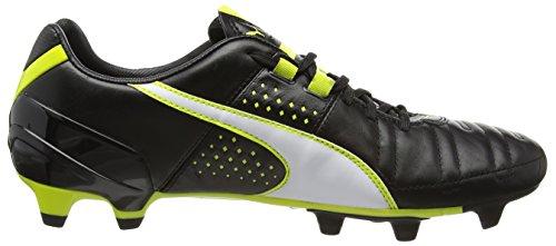 Puma Spirit II FG, Chaussures de Football Homme Noir - Schwarz (black-white-sulphur spring 03)