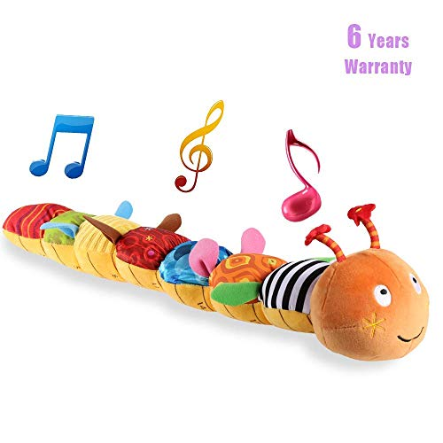Musical Caterpillar Toy, LIGHTDESIRE [Newest]Rattle with Ring Bell for Preschool Baby