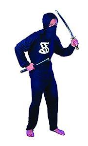 FIORI PAOLO-Ninja Disfraz Adulto Mens, negro, talla 52-54, 62120