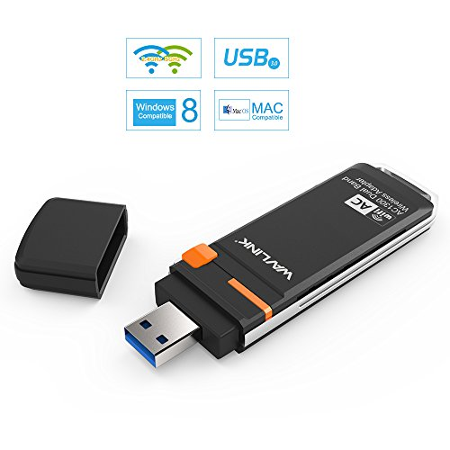 Wavlink ac1300mbps USB 3.0 Wifi Adapter Dual Band Wireless dongle- 5 GHz bis zu 867 MBPS/2.4 GHz 400 Mbit/s Long Range Netzwerk-Adapter für Desktop/Laptop, unterstützt Windows XP/7/8/8.1/10