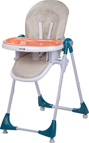 Safety 1st Hochstuhl Kiwi, höhenverstellbar, Tisch mit abnehmbarem Tablett, kompakt zusammenklappbar, ab ca. 6 Monate bis max. 15 kg, happy day