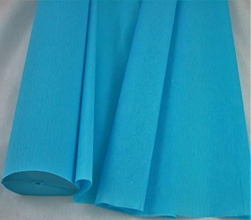 1 bleu clair – Jumbo 26 m papier crépon rouleau. 50 cm x 26 m Nombreuses utilisations comme décorations, Outils Marketing préféré, idéal avec les Écoles Et L'Industrie de la Craft B01L22I8JY | Offre S
