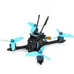 Laurelmartina HGLRC XJB-145MM FPV Drone de Carreras con OSD Omnibus F4 28A 2-4S Blheli_S ESC 25/100/200 / 350mW Versión VTX BNF conmutable