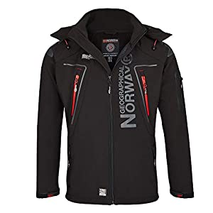 4H3 Geographical Norway Tambour Herren Softshell Jacke Outdoor Schwarz L