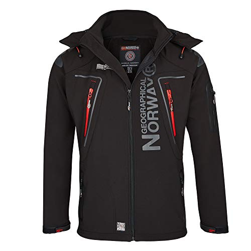Geographical Norway Hombre Softshell Funciones Chaqueta Para Exterior impermeable - negro, hombre, Large