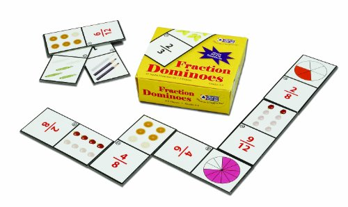 LEARNING ADVANTAGE 7852 FRACTION DOMINOES CARD BY LEARNING ADVANTAGE