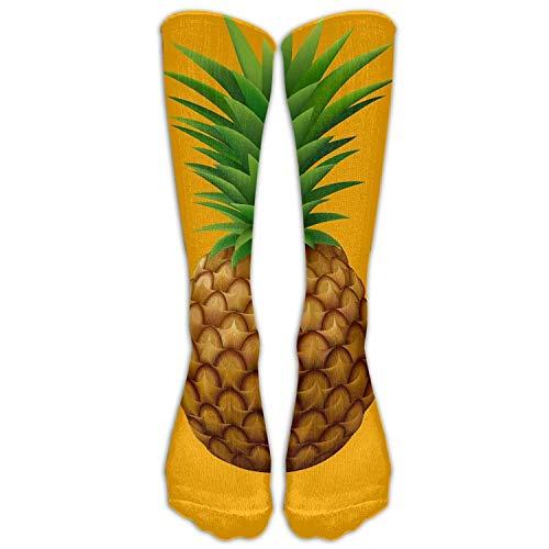 Personalisierte kühle Winter-warme Strümpfe kleiden Ananas über der Eignungs-Knie-hohen Socke der Waden-Rohr-Frauen an -