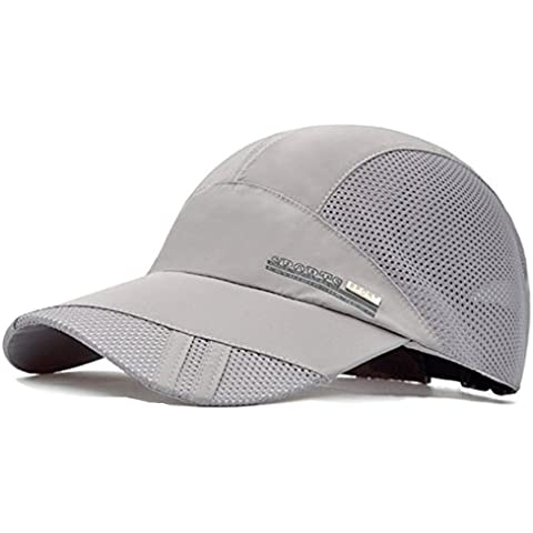 G7Explorer Quick Drying Breathable Running Outdoor Hat Cap (Gray)