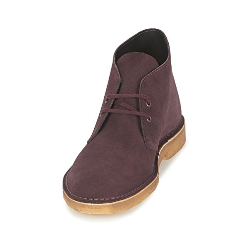 Clarks Originals Desert Boot, Chaussures de ville homme Rouge (Wine Suede)