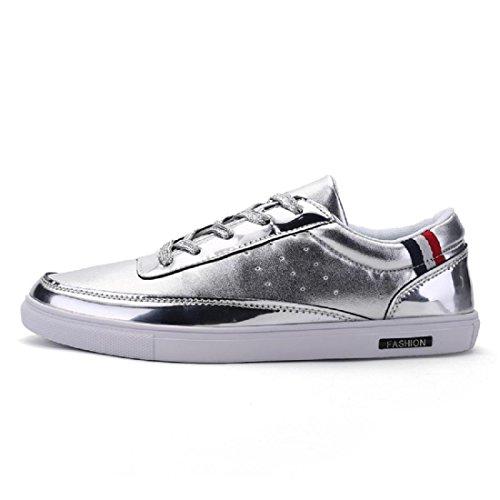 Hommes Chaussures de sport Chaussures de loisirs Mode Baskets Personnalité Chaussures plates Formateurs Lumière Antidérapant sliver