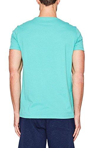 ESPRIT Herren T-Shirt 057EE2K023, , , mit Print, , Gr. X-Large (Herstellergröße: XL), Grün (AQUA GREEN 380)