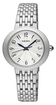 Seiko Reloj Analogico para Mujer de Cuarzo con Correa en Acero Inoxidable SRZ505P1