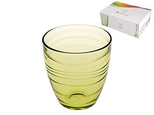 Pasabahce 5862814 mexico confezione 6 bicchieri vetro, verde