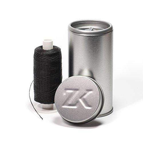 Zahnseidenkampagne Polyester-Bambus mit Aktivkohle Premium Zahnseide gewachst, schwarz (250 m Spule + Spender)