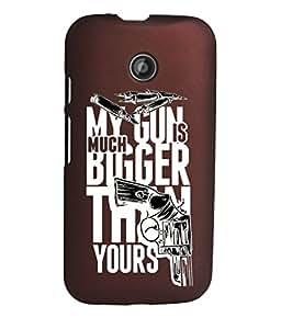 KolorEdge Back Cover For Motorola Moto E (2nd Gen) - Brown (1268-Ke15070MotoE2Brown3D)