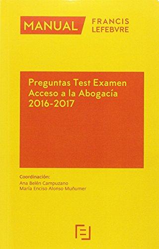 Manual Preguntas Test Examen Acceso a la Abogacía 2016-2017