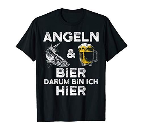 Lustiges Angler T-Shirt - angeln und Bier für Fischer