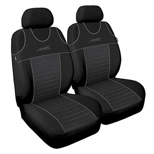 Sitzbezüge Auto Vordersitze 1+1 Universal Schonbezüge Grau Autositzbezug Bezug