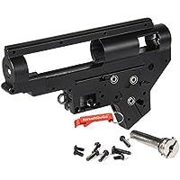 E&C 8mm Bearing QD M4 Ver.2 Airsoft Carcasa de Gearbox (Negro) - Llavero Incluido
