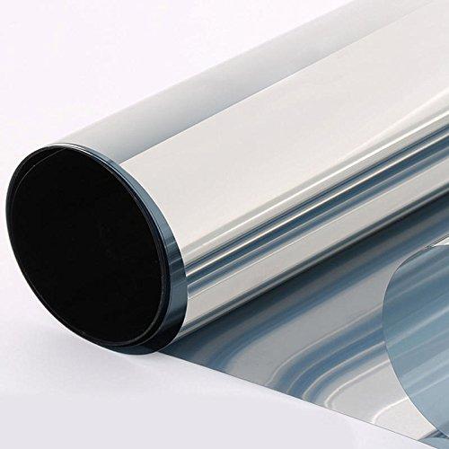 Diversity Wrap Silber Reflektierende halbverspiegelte Fensterfolie 35% Sichtschutz-Sticker, Glas, Tönung 76 cm (1m x76 cm) 76 Gläser